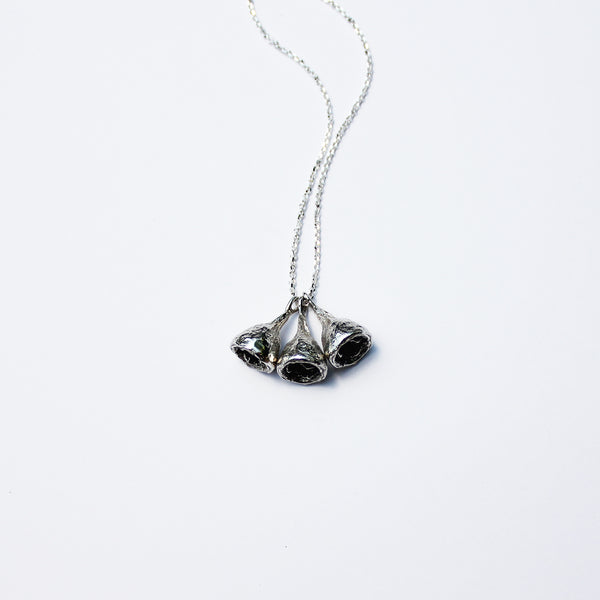 Seed Pod Necklace Silver