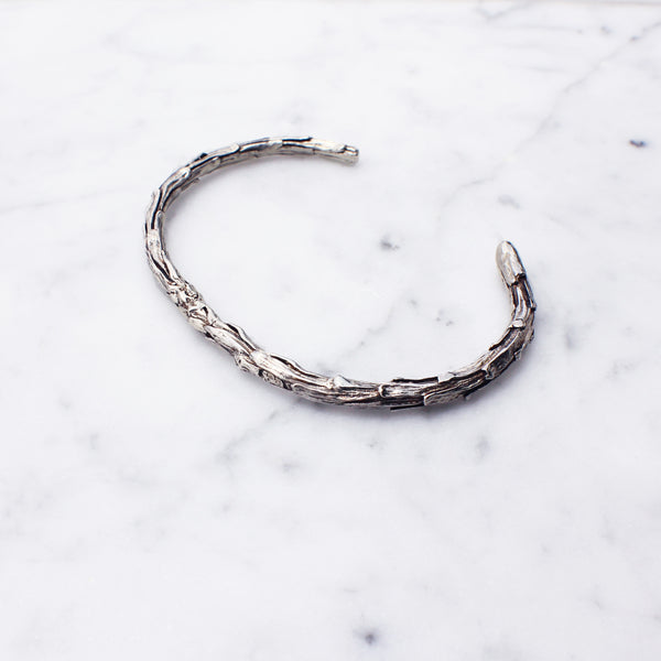 Silver Redwood Twig Cuff