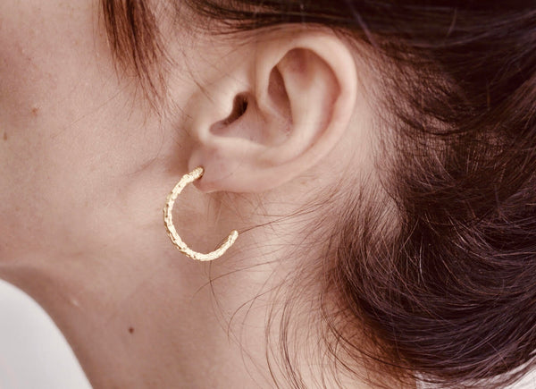 Small Gold Twig Hoops