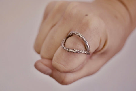 Silver Open Twig Ring