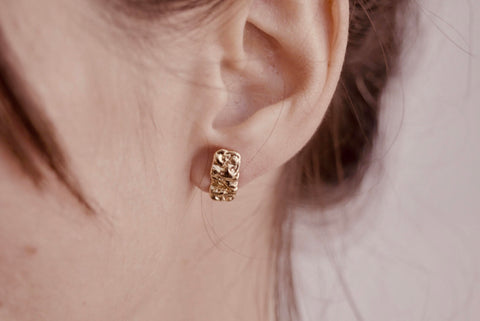 Small Gold Bark Studs