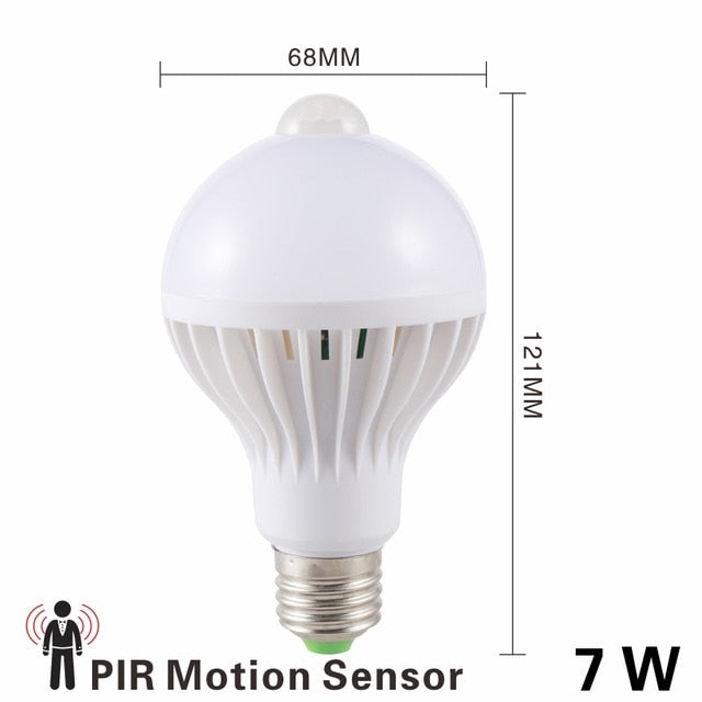 Motion and Sound Sensor Led Bulb 3W 5W 7W 9W Auto Smart Led PIR Infrared