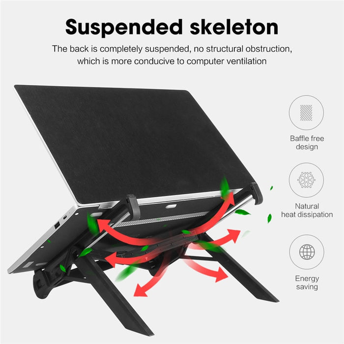 Adjustable Laptop Holder Stand with portable base Support bracket