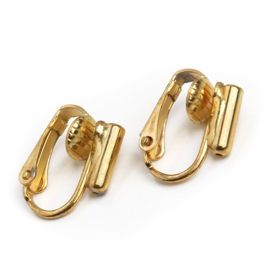 Clip on Earring Converters | Post to Clip on | 22k Gold Plated Stainless Steel
