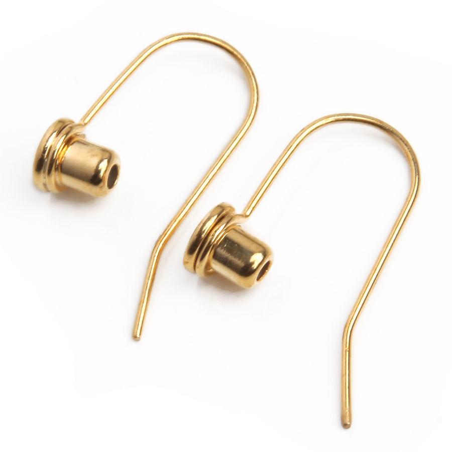 Earring Converters | Post to Fish Hook Wire | Gold Plated Stainless Steel