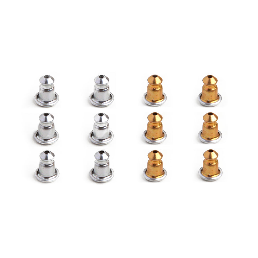 Wholesale | Earring Backs | Aluminum | Bullet Bax | 6 Pairs