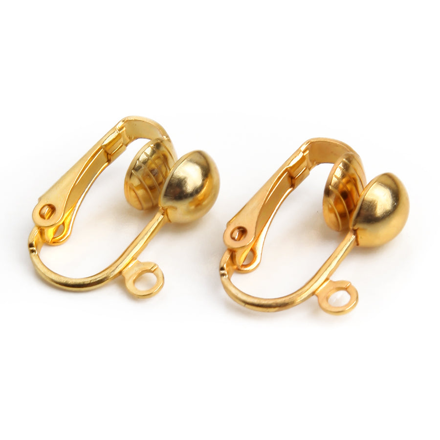 Clip on Earring Converters | Fish Hook to Clip | 22k Gold Plated Stainless Steel