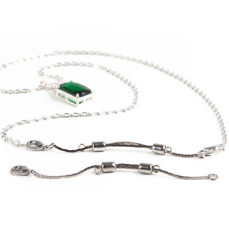 Necklace Accessories Kit | Magnetic Jewelry Clasp | Adjustable Extender | 2 pieces | Silver Bundle