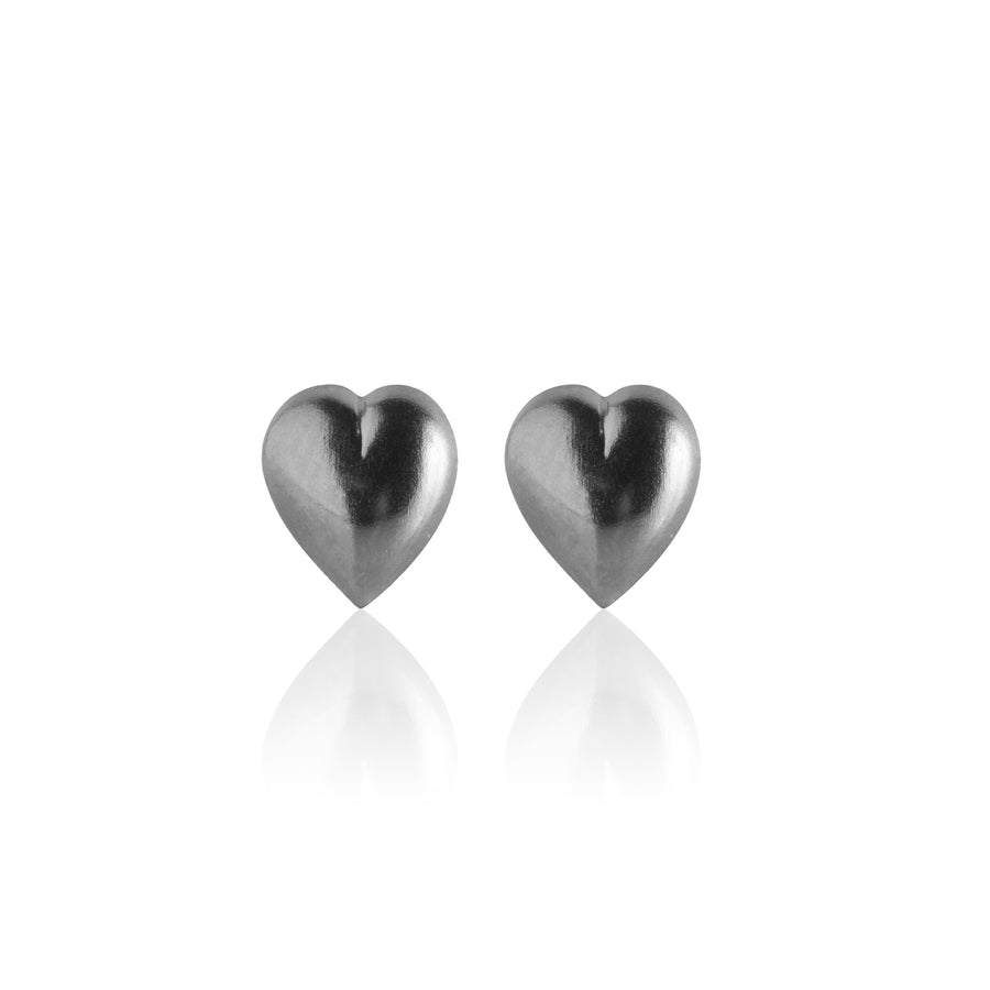 Stainless Steel Earrings | Puff Heart Studs