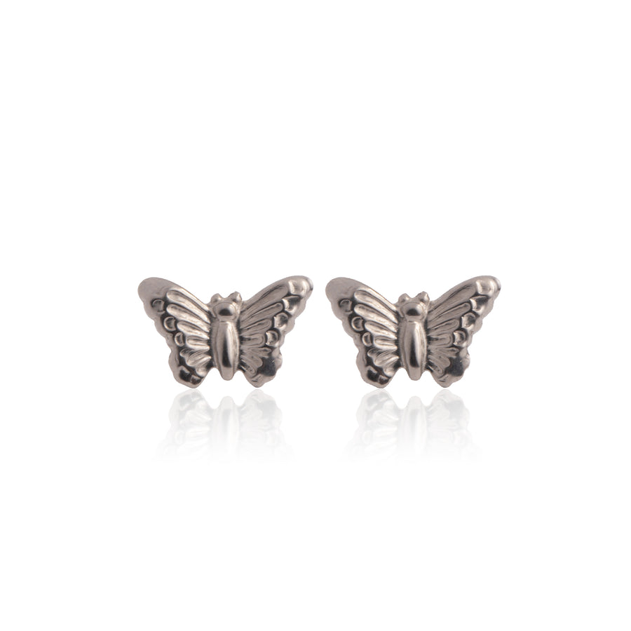 Stainless Steel Earrings | Butterfly Studs