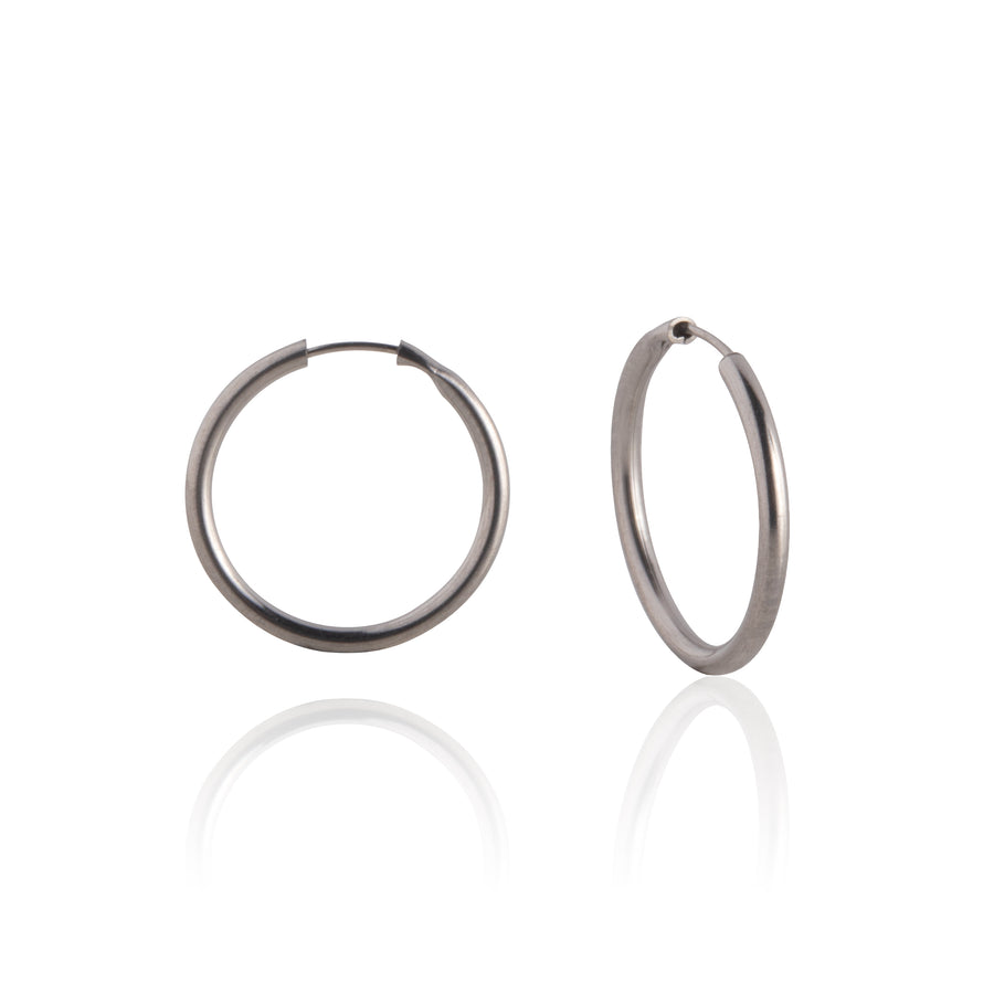 Stainless Steel Earrings | 0.5 inch Endless Hoops | 2 Pairs