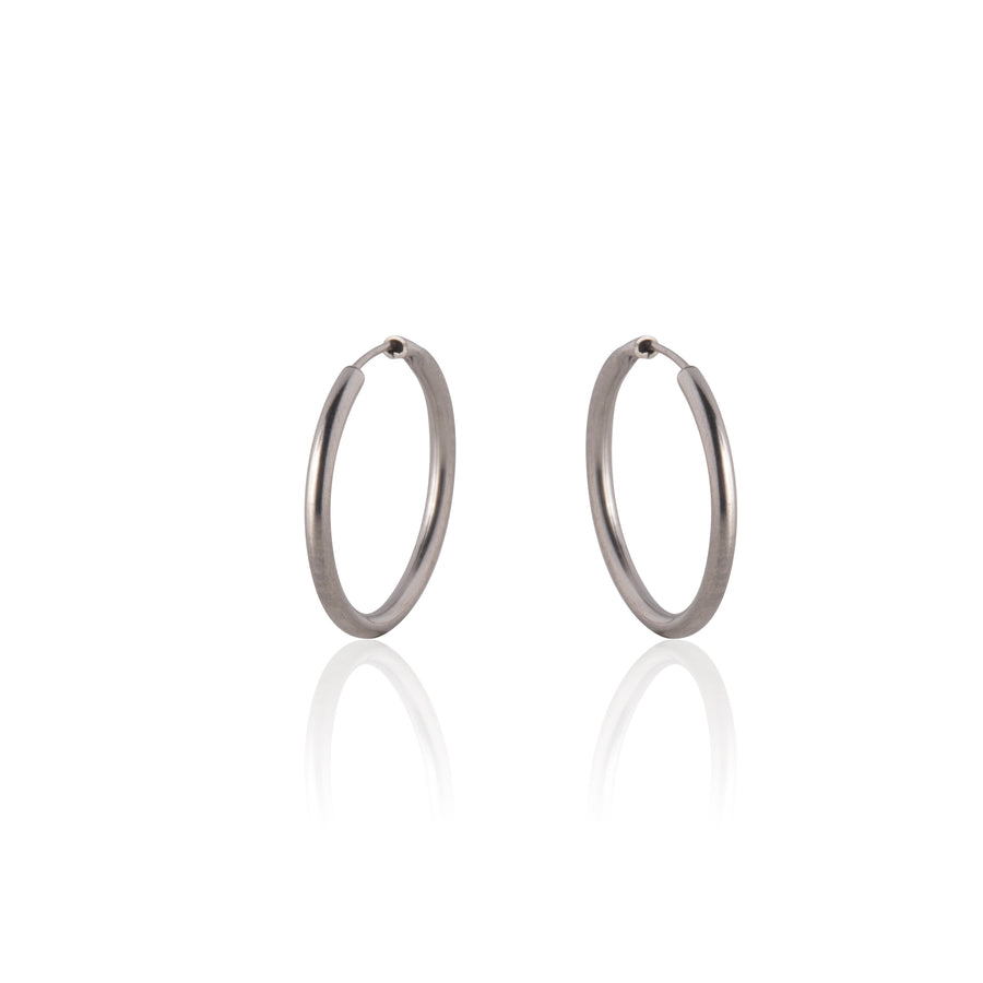 Stainless Steel Earrings | 0.5 inch Endless Hoops | 1 Pair
