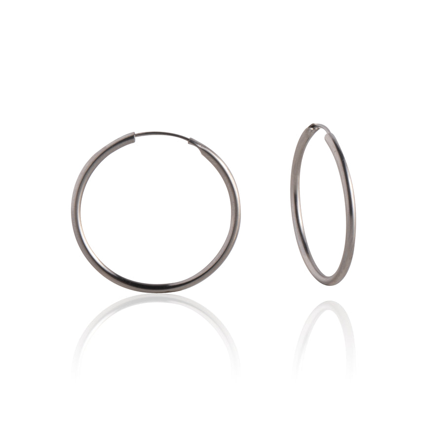 Stainless Steel Earrings | 3/4 inch Endless Hoops