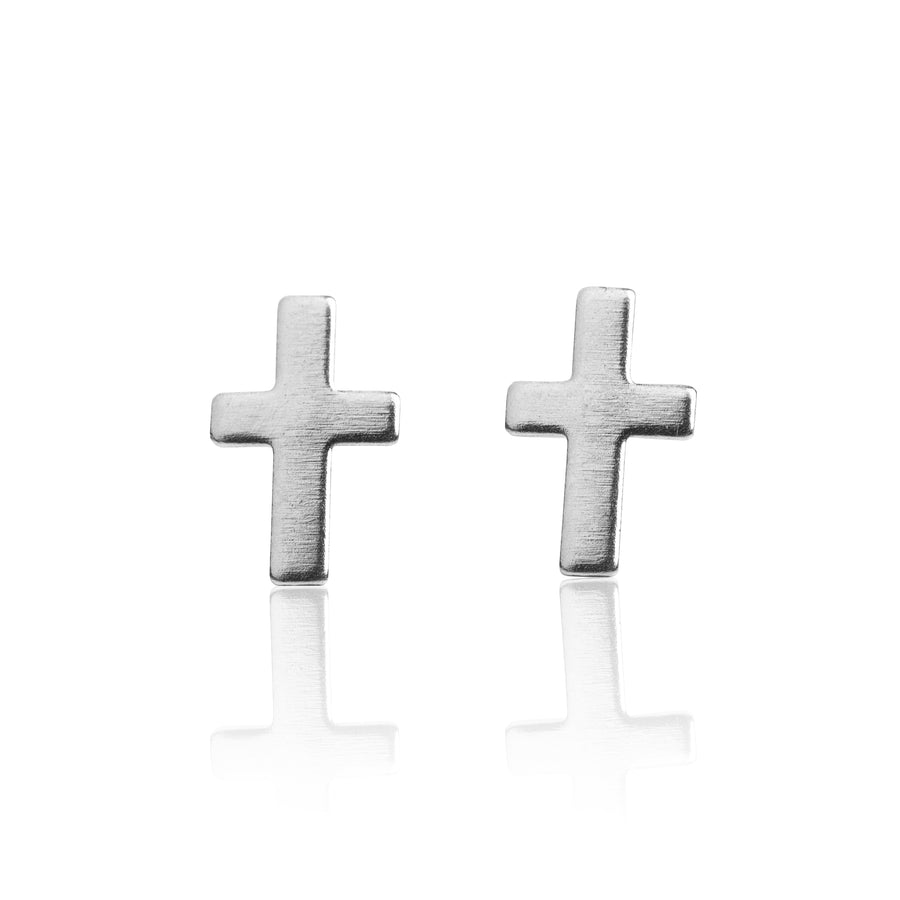Wholesale | Stainless Steel Earrings | Cross Studs | 1 Pair