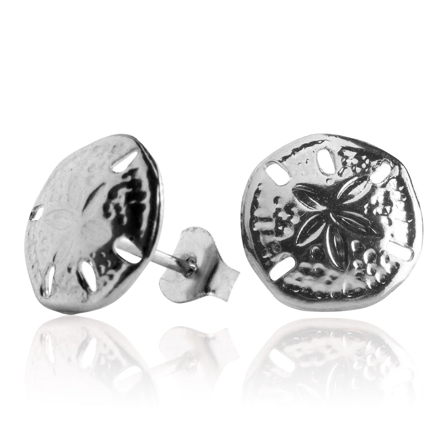 Stainless Steel Earrings | Sand Dollar Studs