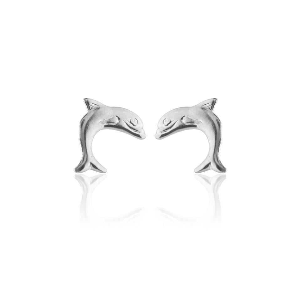 Stainless Steel Earrings | Dolphin Studs | 1 Pair