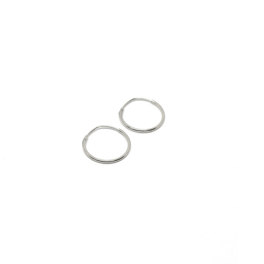 Sterling Silver Earrings | 14mm Mini Hoops | 1 Pair