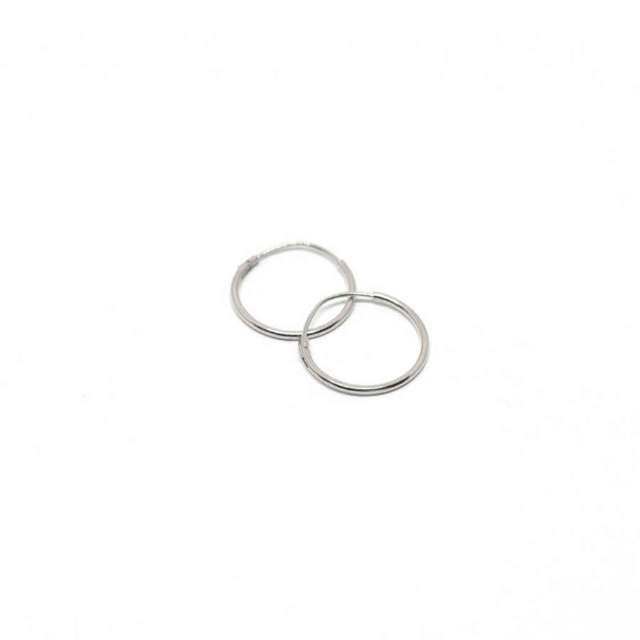Sterling Silver Earrings | 14mm Mini Hoops | 3 Pairs
