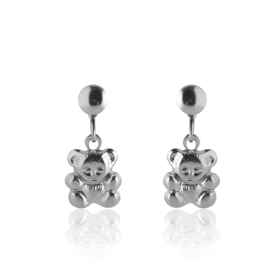 Stainless Steel Earrings | Teddy Bear Drop Studs