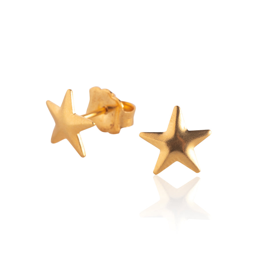Stainless Steel Earrings | Astrology Inspired | 22k Gold Plated | 3 Pairs