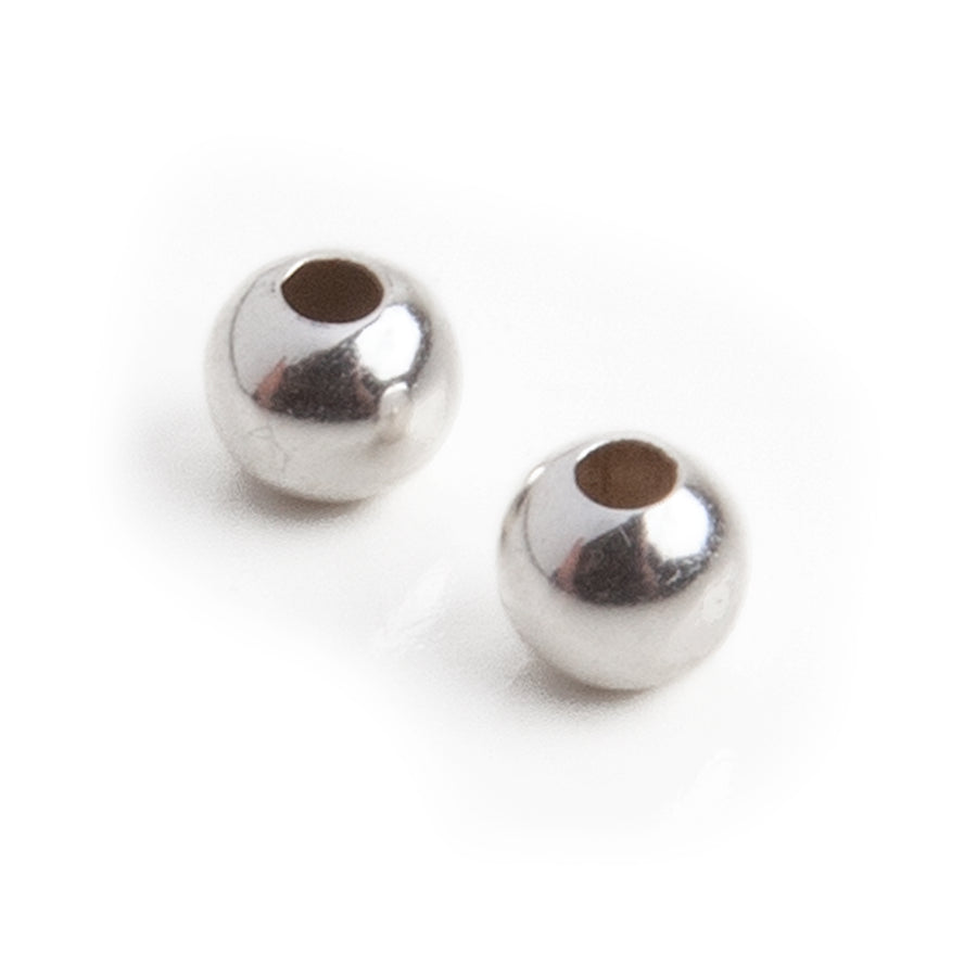 Sterling Silver Beads | 4mm | 1 Pair