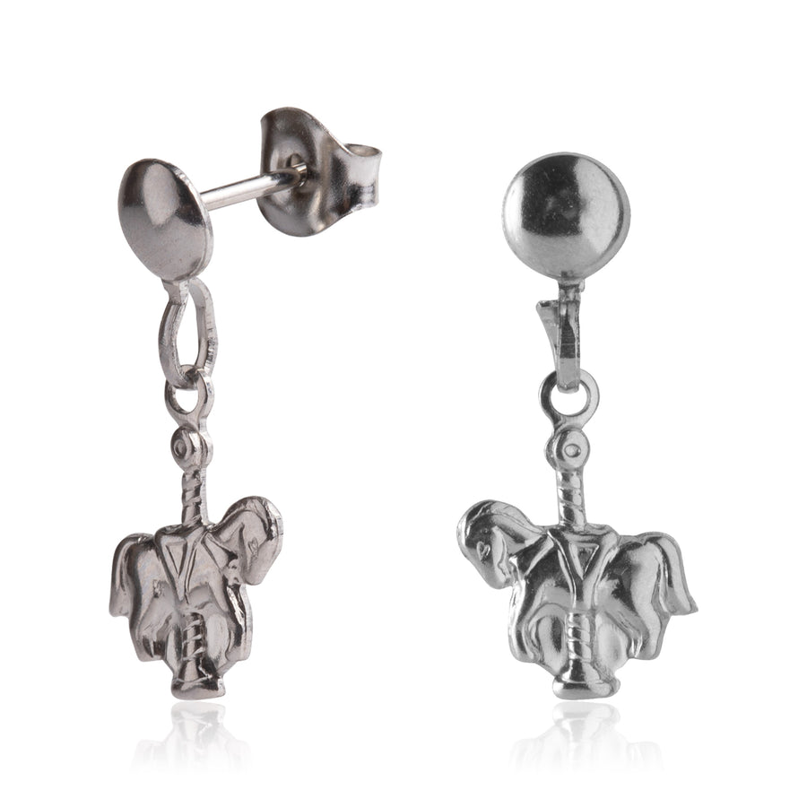 Stainless Steel Earrings | Carousel Horse Drop Studs