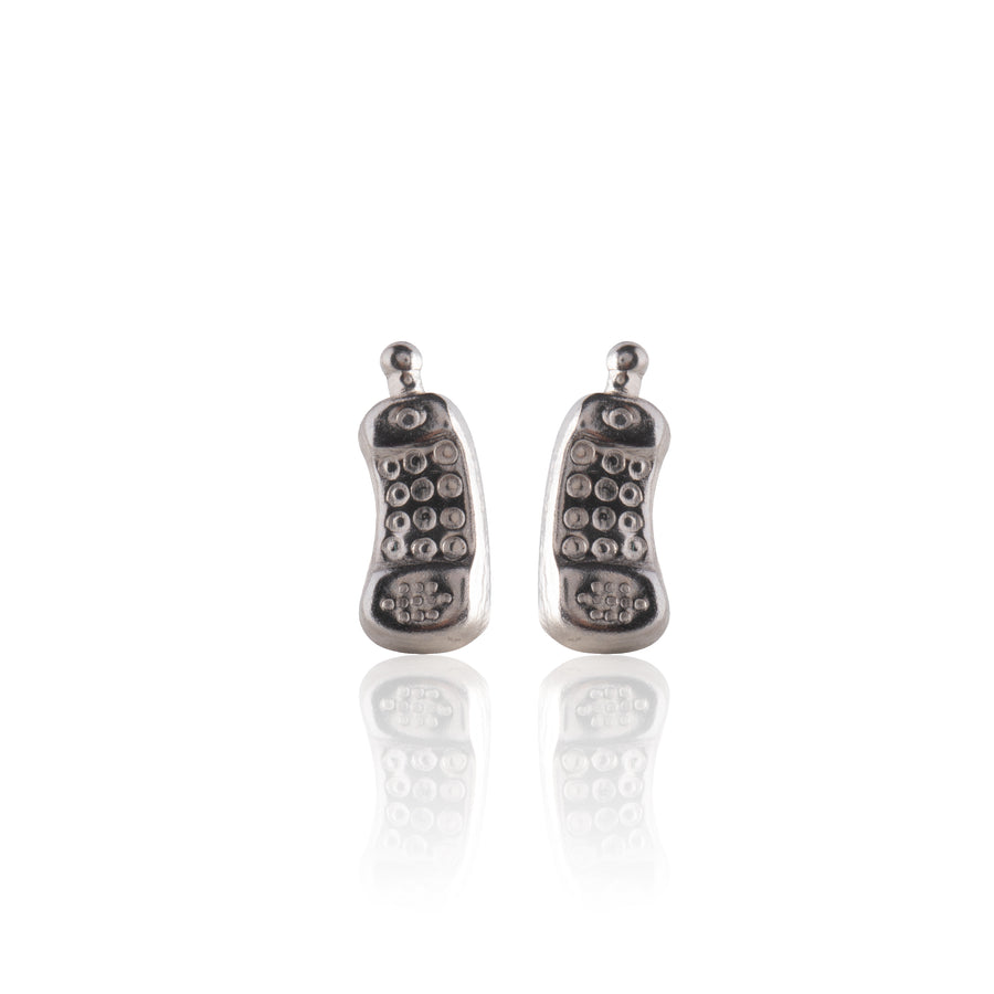 Stainless Steel Earrings | Retro Cellphone Studs | 1 Pair