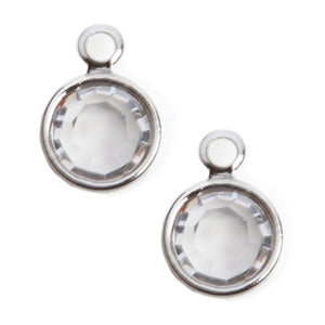Crystal Charms | Clear Finish | 1 Pair