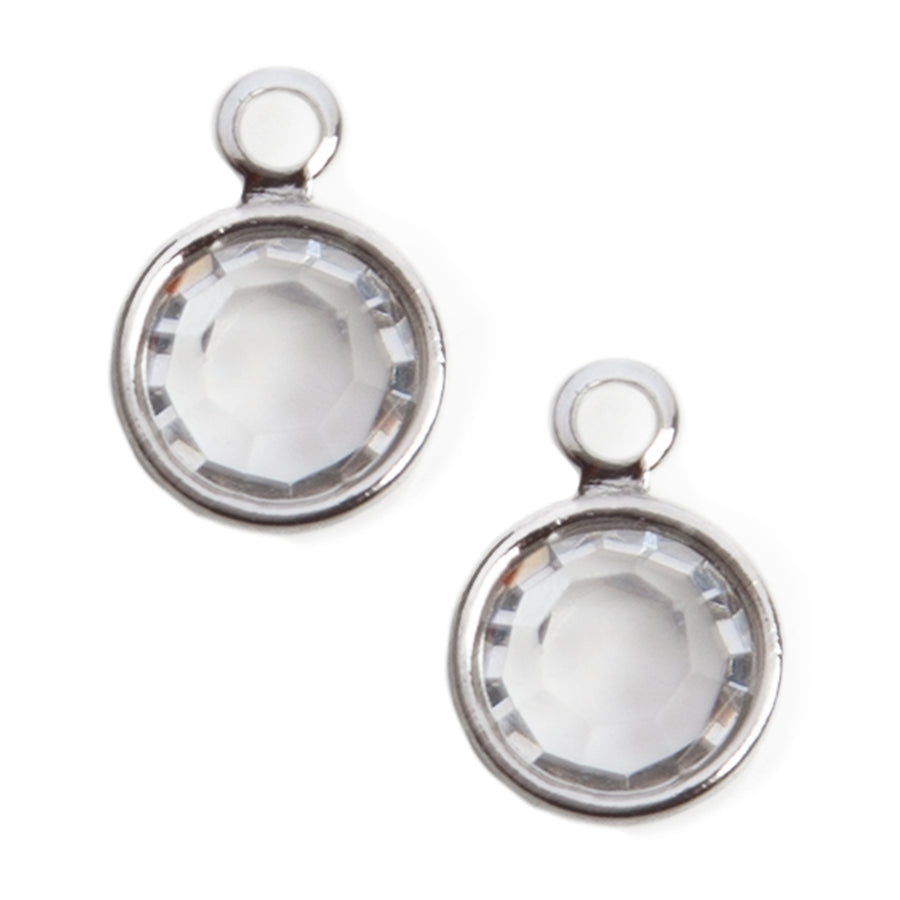 Wholesale | Crystal Charms | Clear Finish | 1 Pair