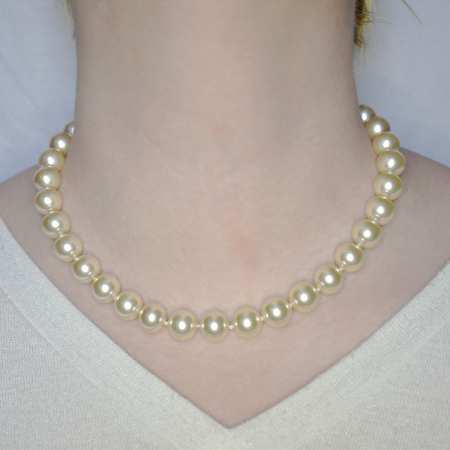 Mallorca Pearl Necklace | Single Strand | 12mm Medium off-white pearls | 1 piece