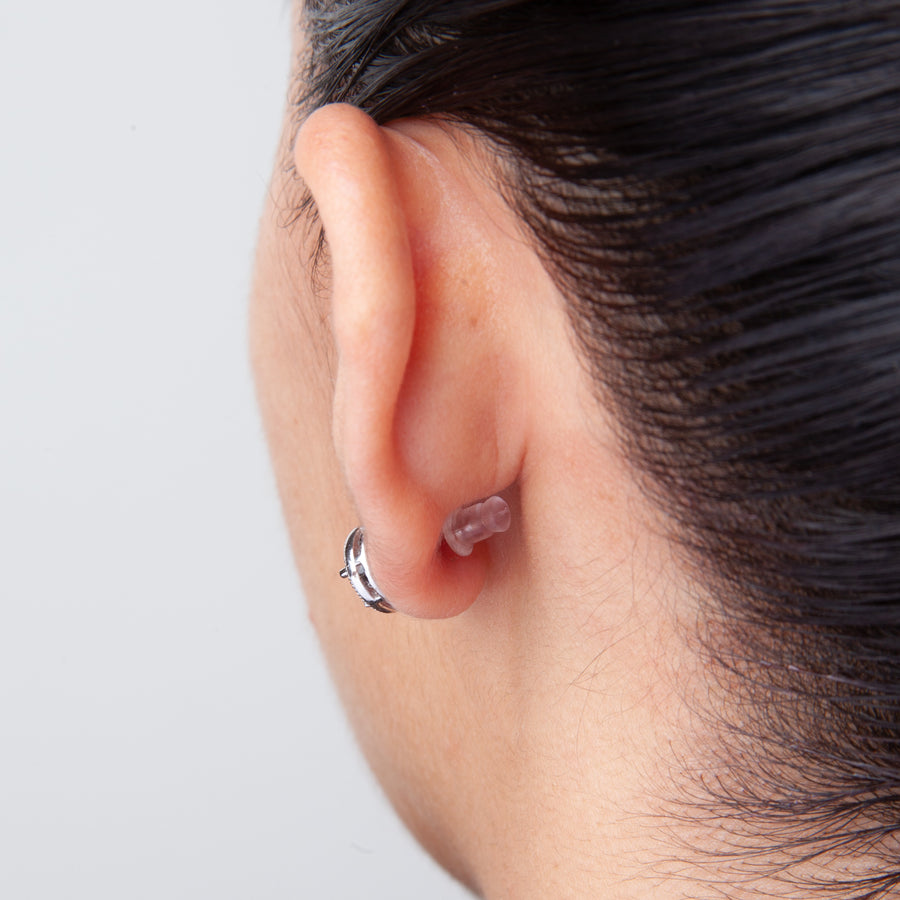 Plastic Earring Backs | Small Bullet Shaped | Clear Bullet Bax | 6 Pairs