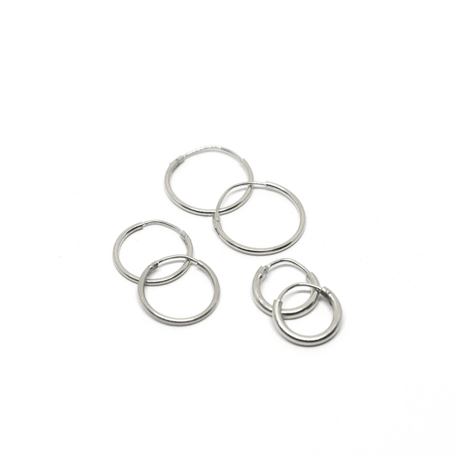 Sterling Silver Earrings | Mini Hoops | 3 Pairs