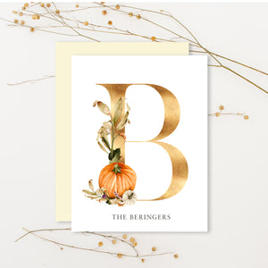 Fall Hand Painted Monogram