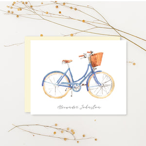 Vintage Bicycle Personalized Stationery