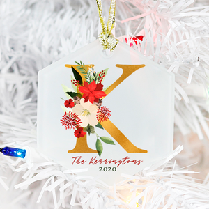Christmas Monogram Ornament