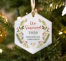 Load image into Gallery viewer, We Survived 2020 Christmas Ornament