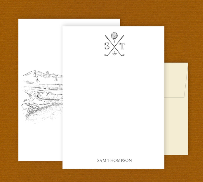 Personalized Golf stationery