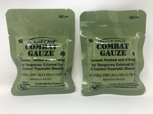 Two QuikClot Combat Gauze 2021 Expiration