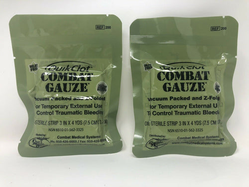 QuikClot Combat Gauze 2022 Expiration -Lot of 2
