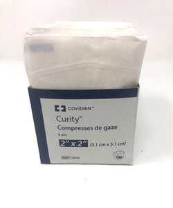 "Covidien Curity™ 2"" X 2"" Gauze/Sponges- Box of 100"