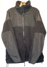 Load image into Gallery viewer, Black Polartec Military Fleece Jacket