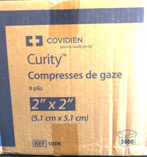 "Load image into Gallery viewer, Covidien Curity™  2"" X 2""Gauze Sponges- Case of 3000"