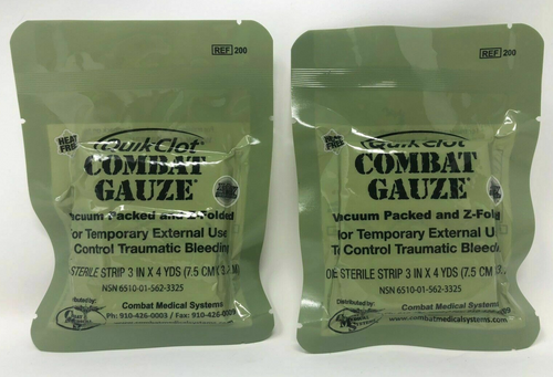 Expired QuikClot Combat Gauze- Lot of 2