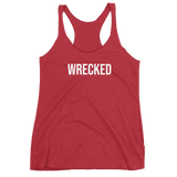 Wrecked Text Women's Racerback Tank