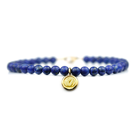 Lotus Flower Disc Keepsake Bracelet