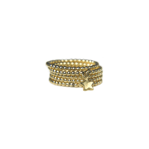 Pente Gold Stack Ring