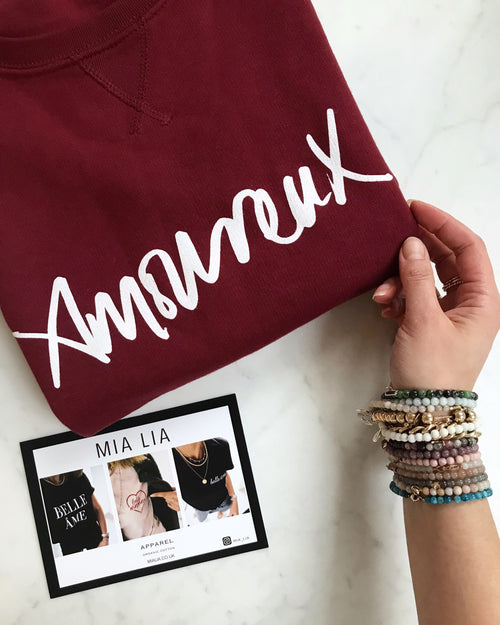Limited Edition Burgundy Amoureux Sweatshirt