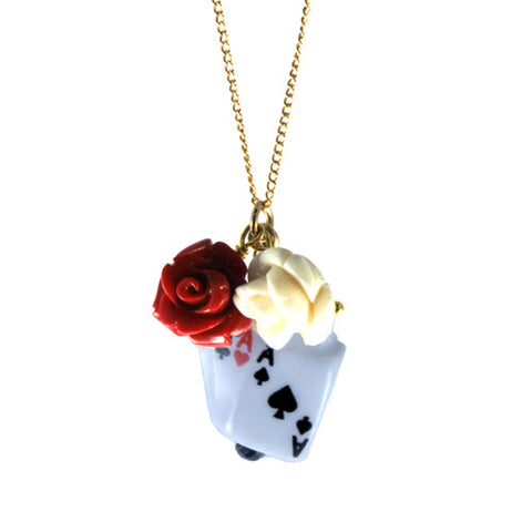 Painting the Roses Red Necklace