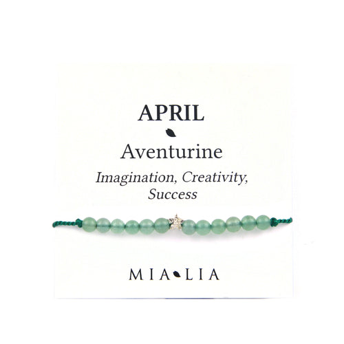 Birthstone Friendship Bracelet - April