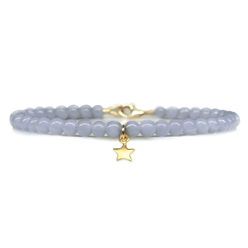 Angelite Star Keepsake Bracelet